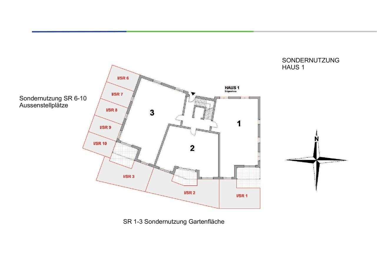 Sondernutzungsrecht am oberirdischen Stellplatz Nr. 6