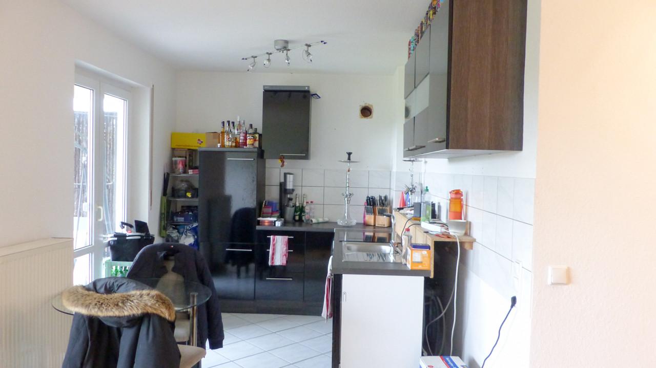 offene Küche mit Zugang  zur...