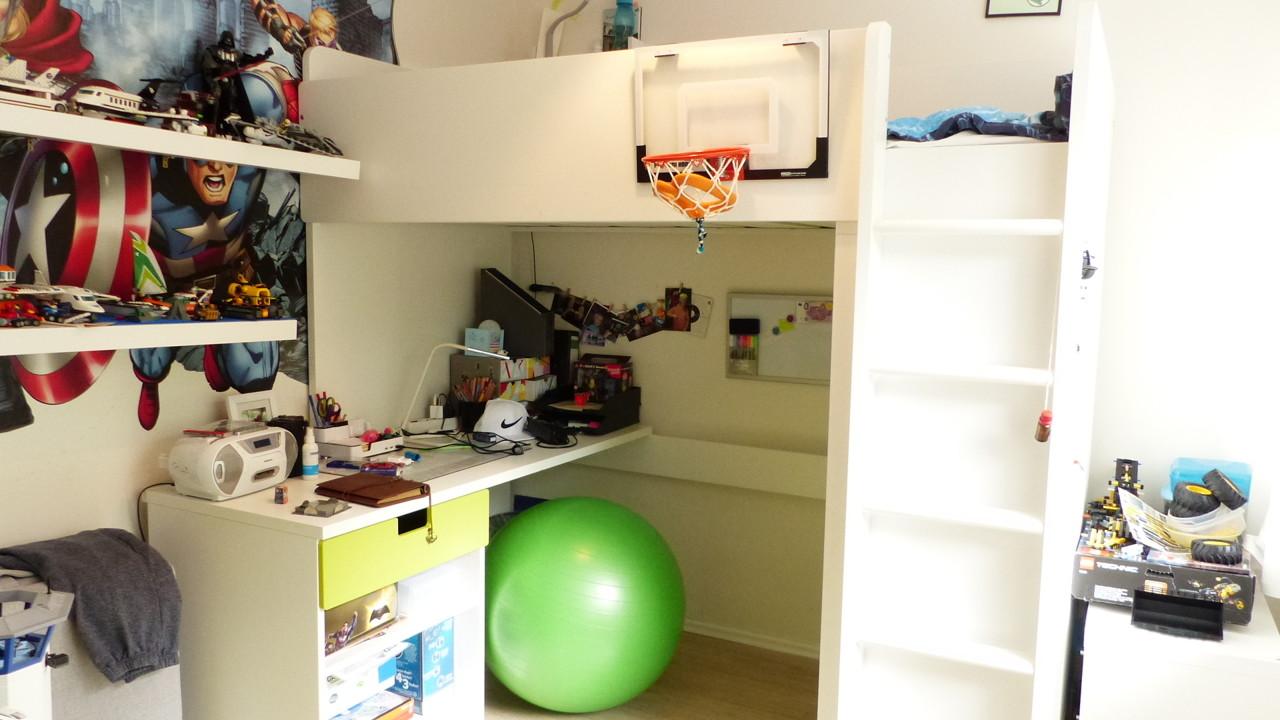 das zweite Kinderzimmer ist etwas kleiner, aber auch sehr schön