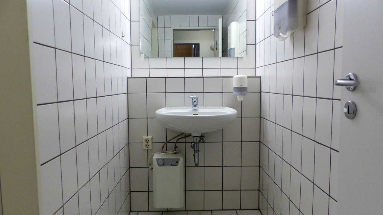 Personal-WC's im Kellergeschoss
