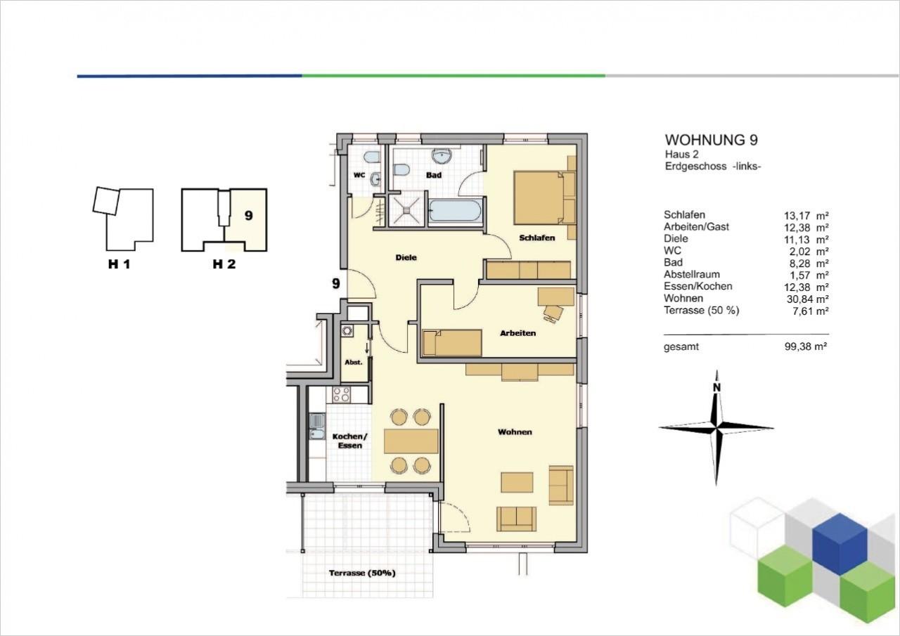 Whg. 9, Haus 2,  Staffelgeschoss