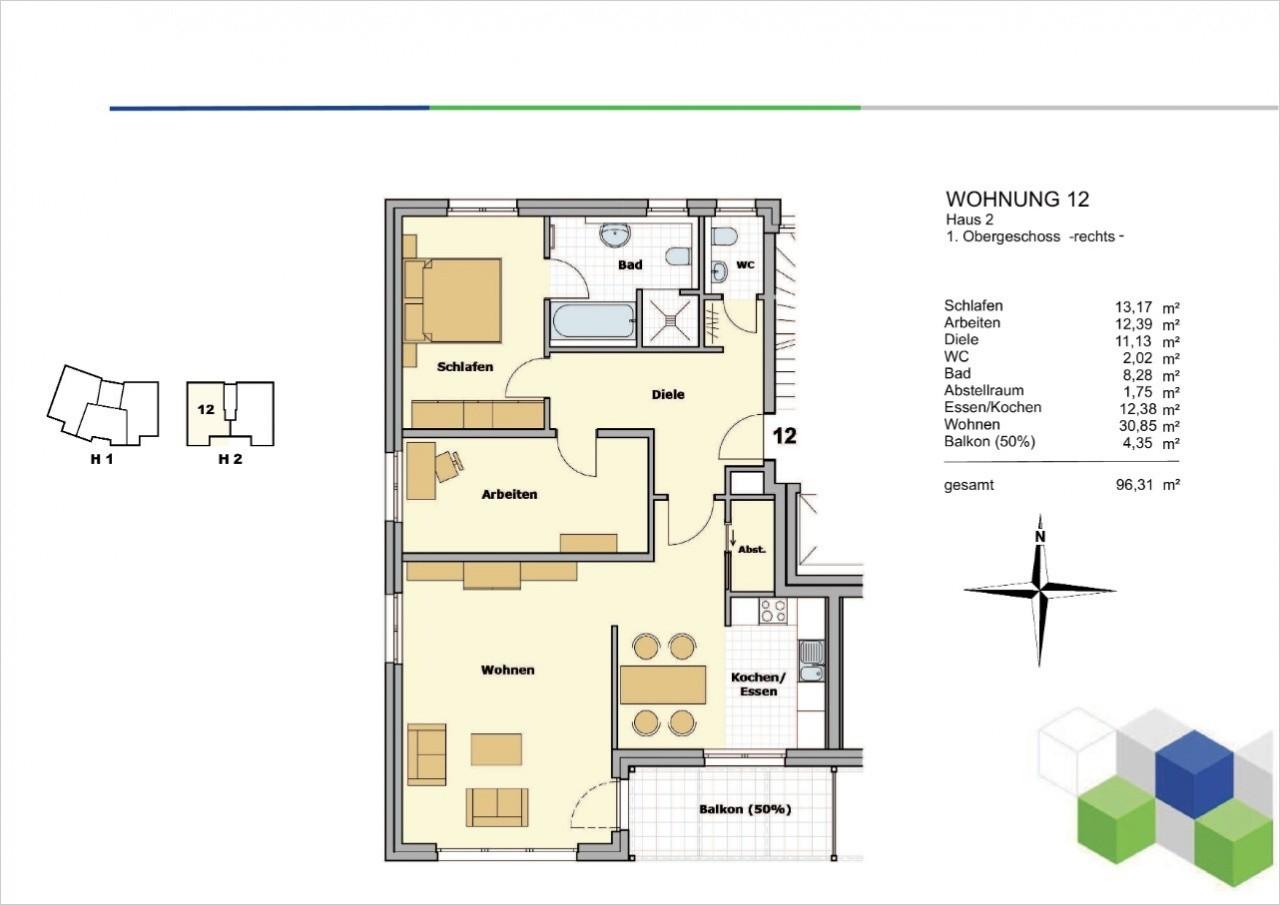 Whg. 12, Haus 2,1. OG rechts