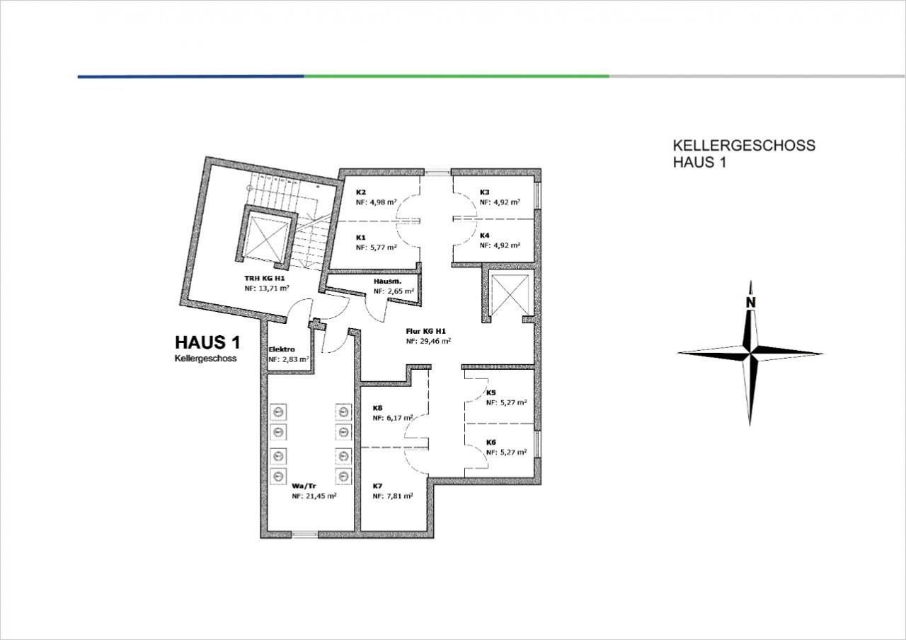 Kellergeschoss Haus 1