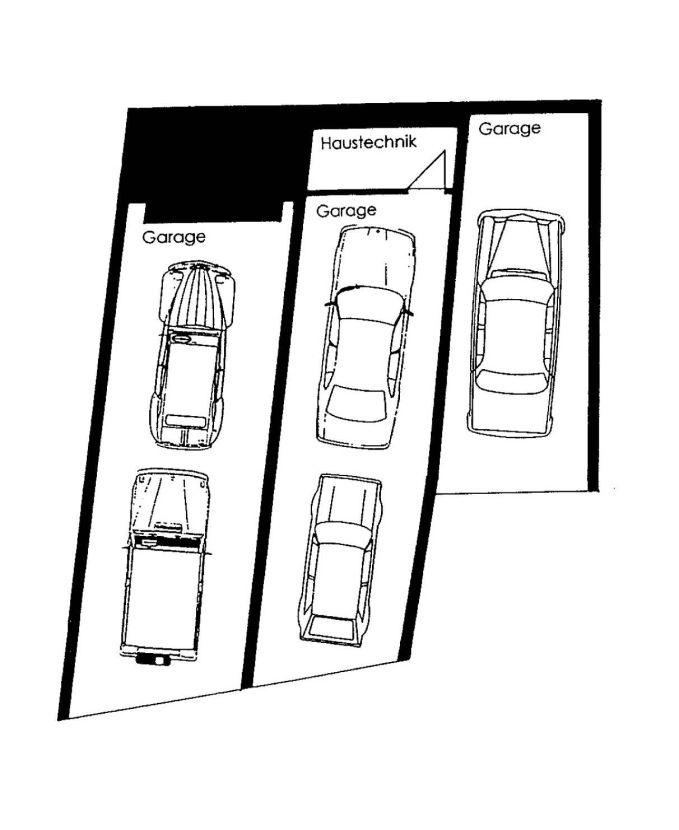 Grundriss Garagen (Entwurf)