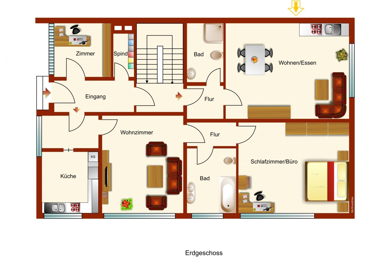 Grundriss EG Appartement