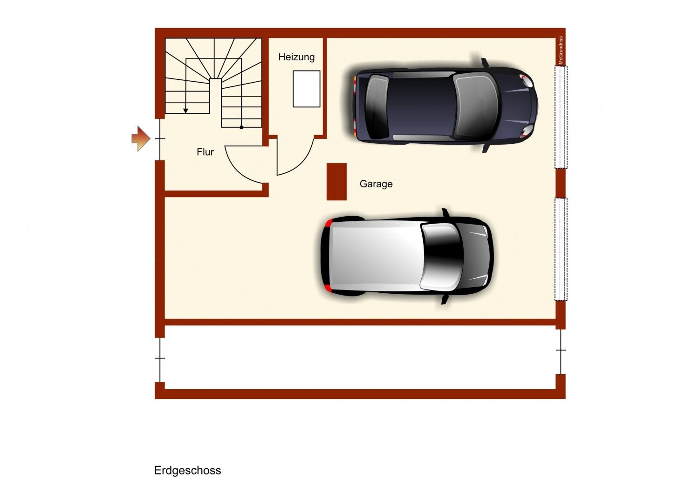 Grundriss Garage