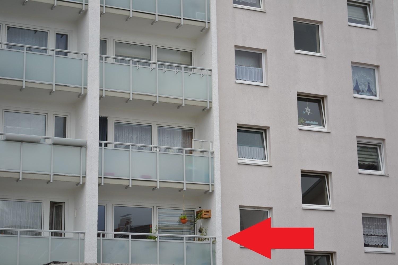 Balkon mit Markierung