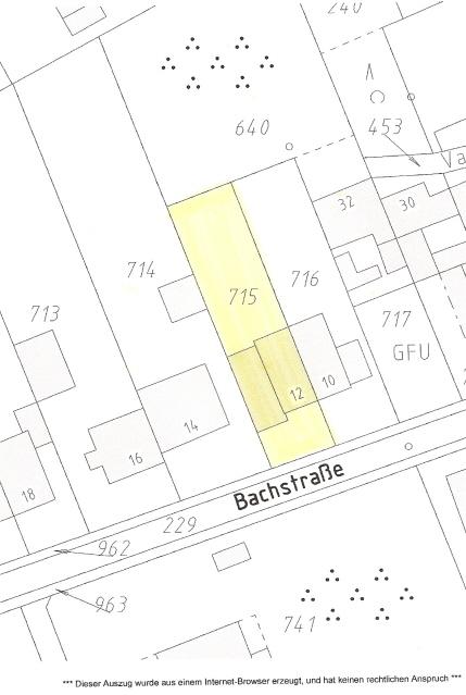 Lageplan Bachstraße 12
