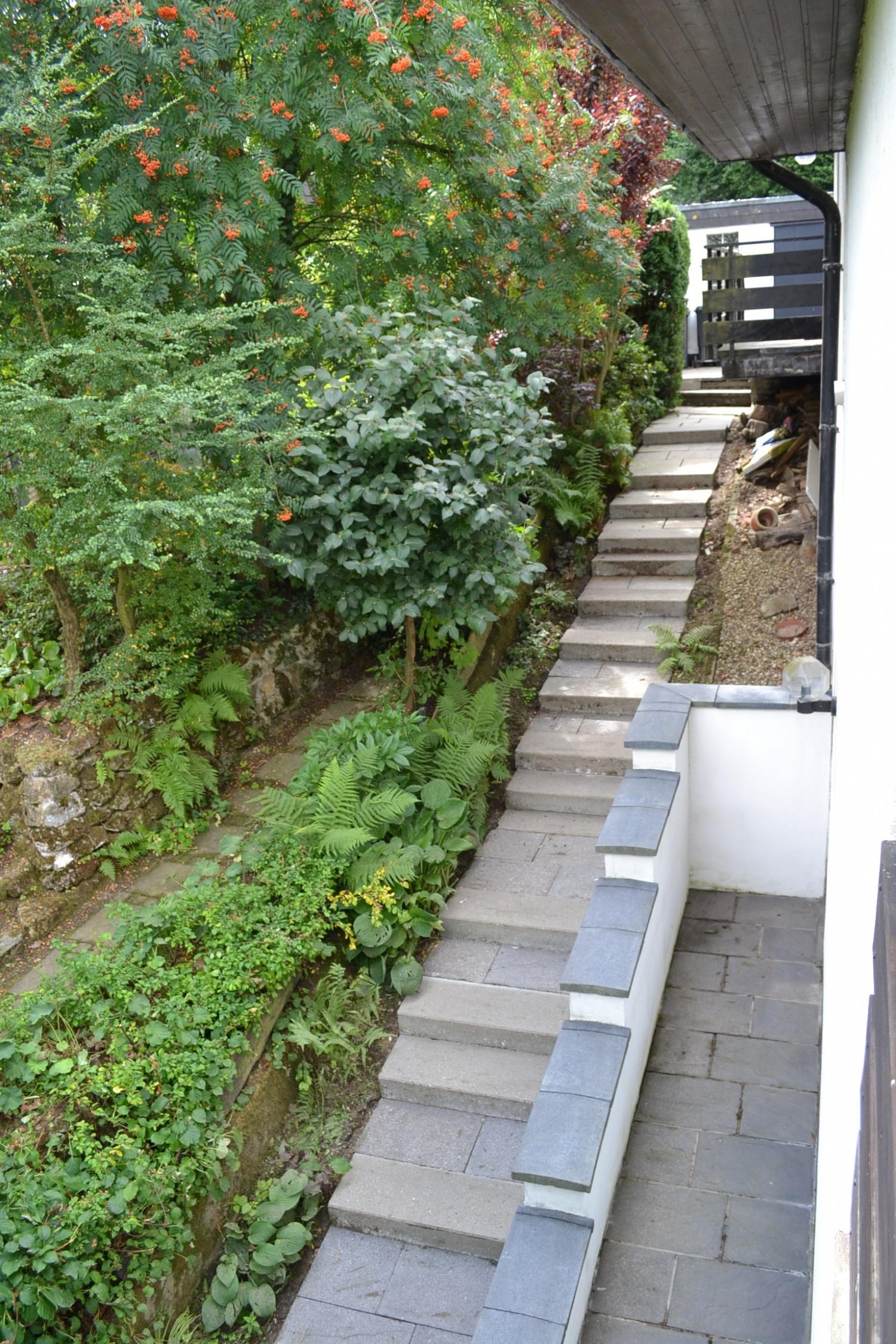 Seite Treppe