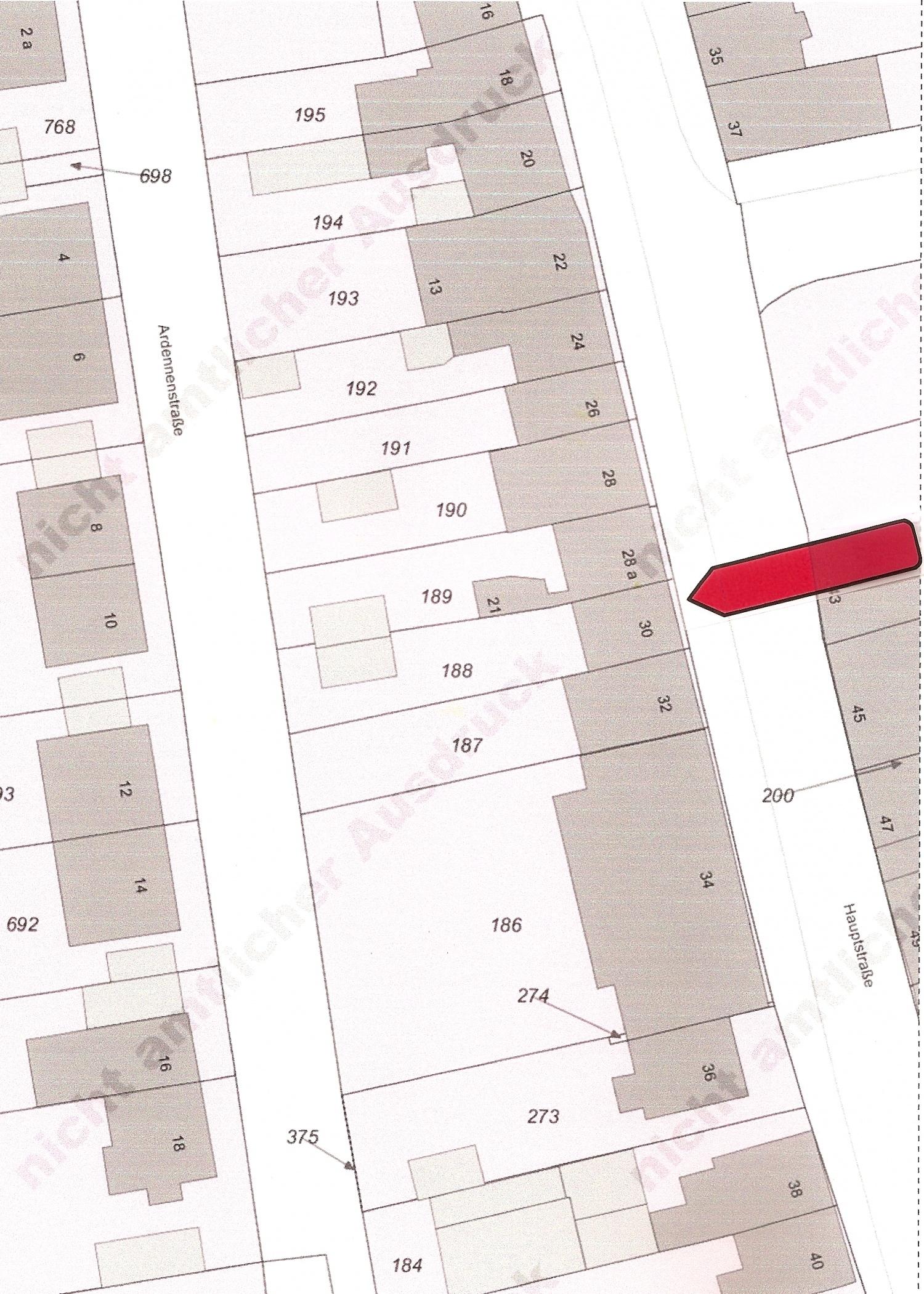 Lageplan Hauptstraße 30