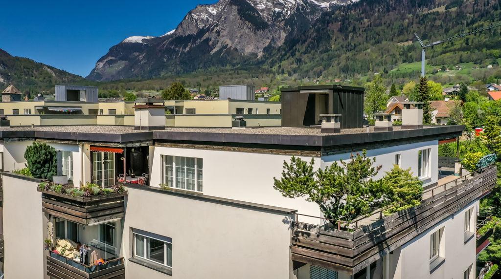 Wohnung Ansicht Sitzplatz Wohnbereich