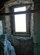 Detail, Fenster in Bruchsteinmauer