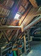 Untersicht Dach Scheune links