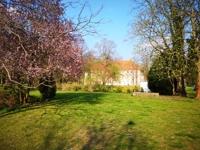 Blick auf Schloßpark mit Schloss Schönhausen