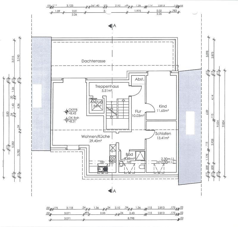 Entwurf Neubau Staffelgeschoss