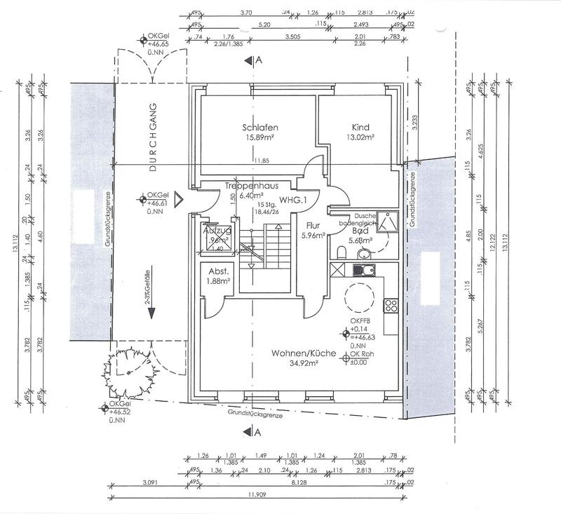 Entwurf Neubau Erdgeschoss