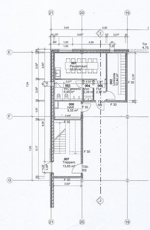 Bürotrakt Erdgeschoss