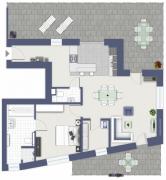 Grundriss der Wohnung.