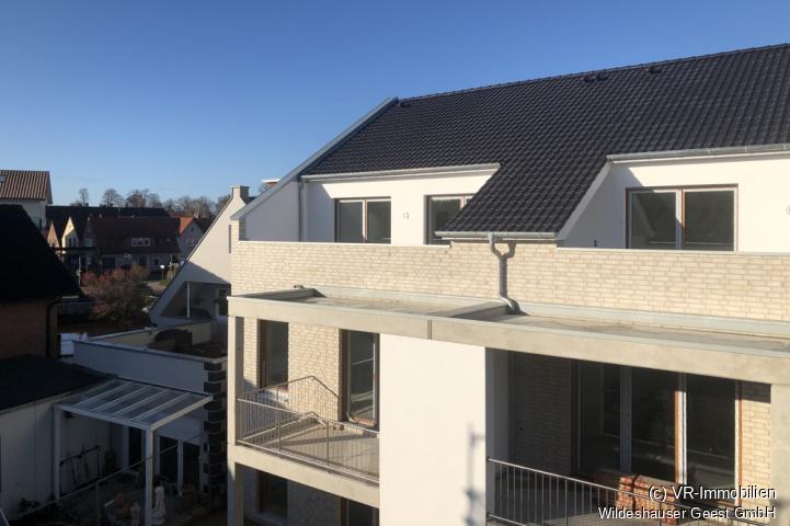 Blick auf die Dachterrasse (Loggia).