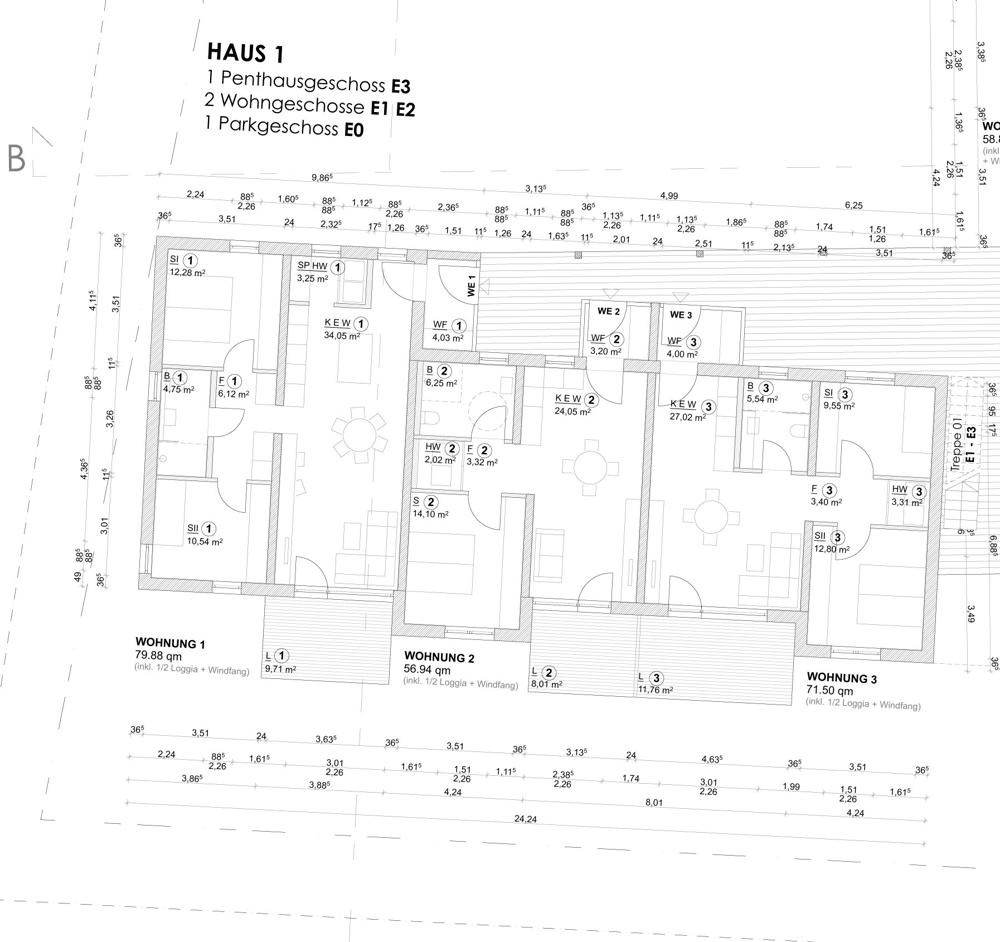 Haus 1 Ebene 1