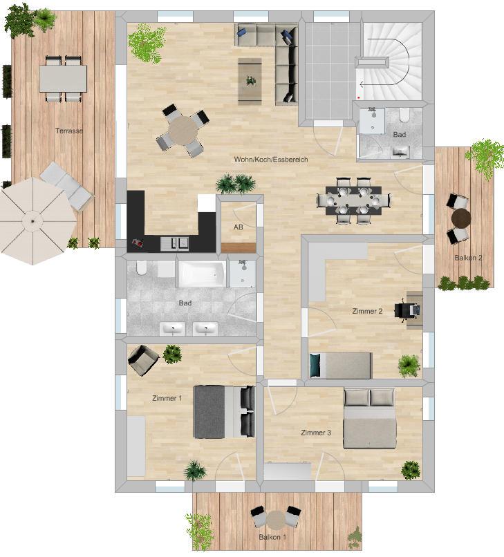 Grundriss Wohnung OG