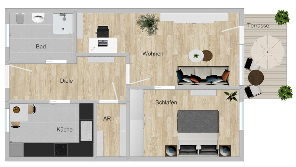 GR 2-Zi-Wohnung