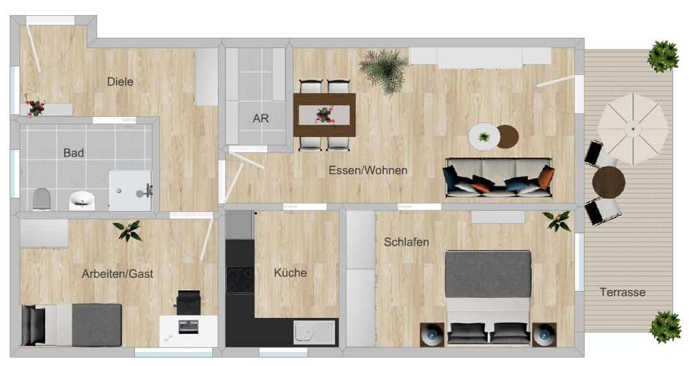 GR 3-Zi-Wohnung