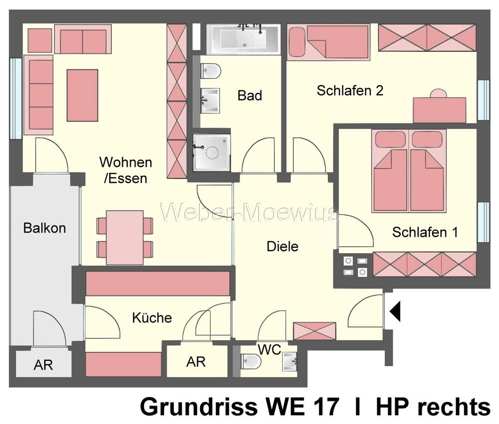 2752 - 2756 Grundriss WE 17 HP rechts