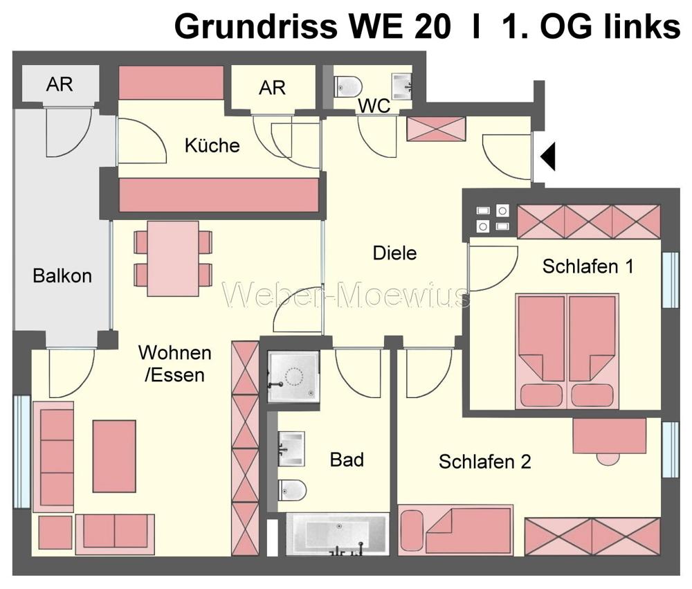 2752 - 2756 Grundriss WE 20 1. OG links