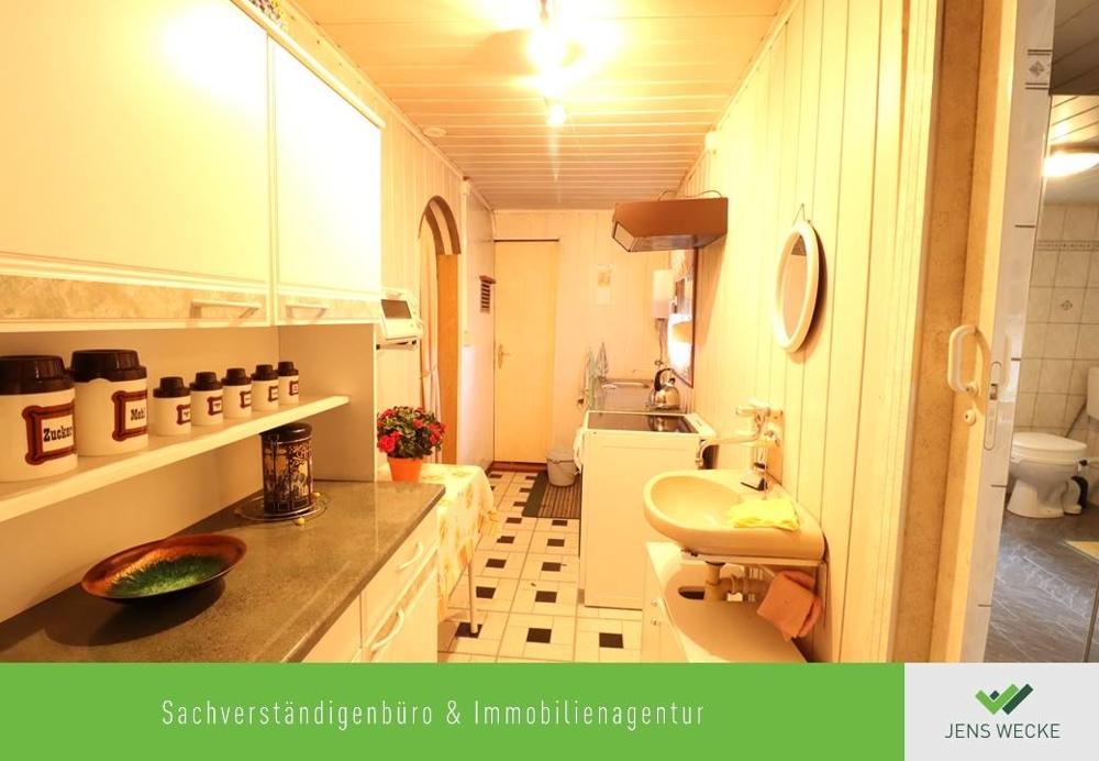 Küche im Bungalow