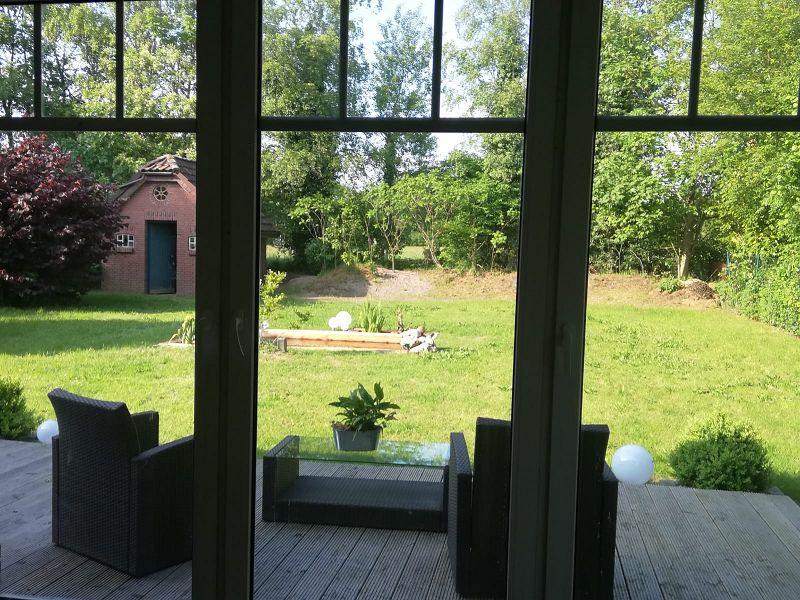 Blick aus dem Wohnzimmer