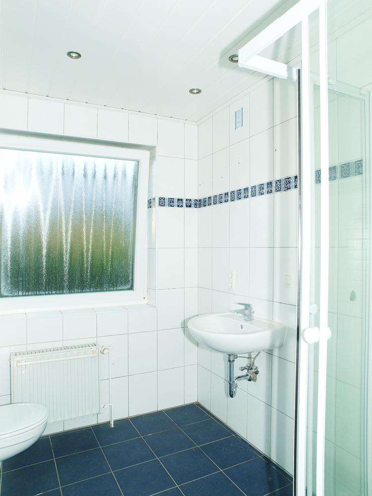 linker Eingang- Tageslichtbad Dusche