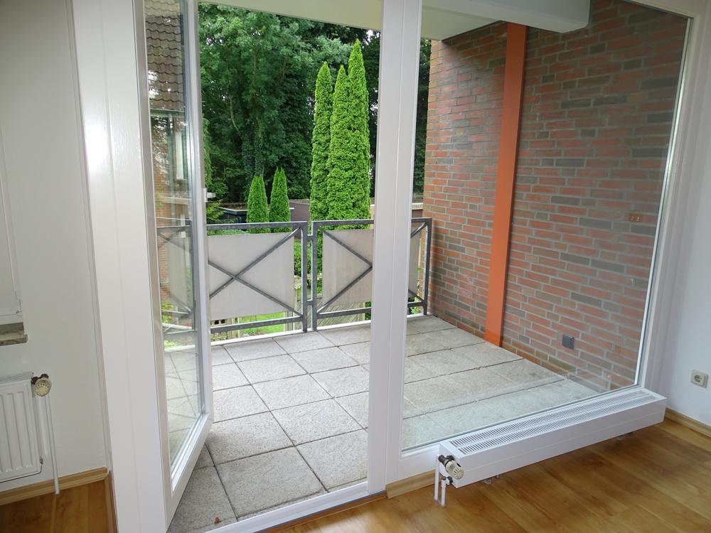 Der Blick auf den Balkon