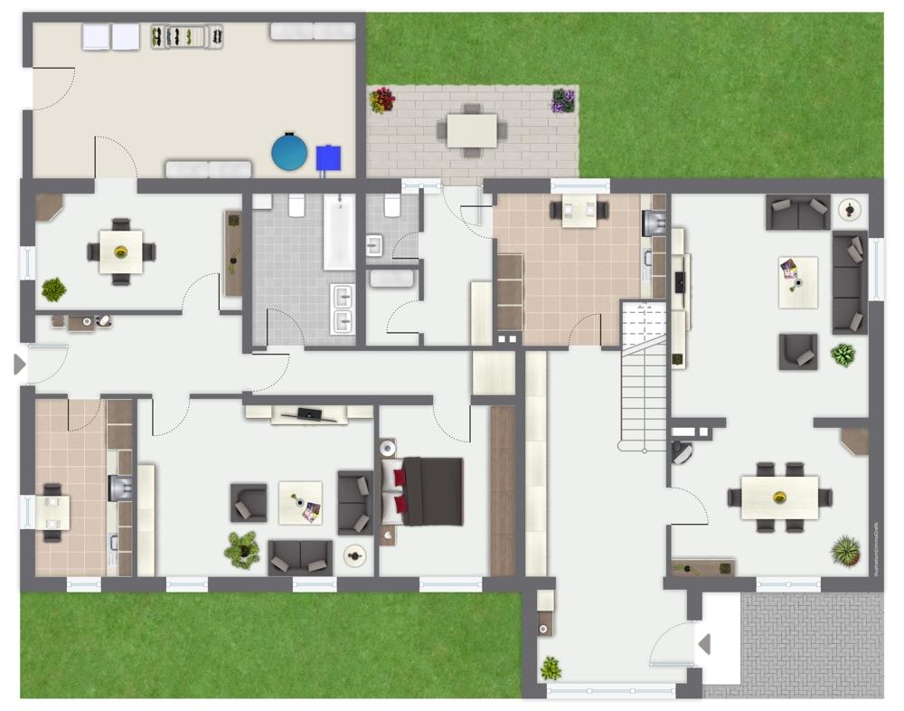 Erdgeschoßwohnung und Teil Wohnung1