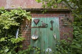Deko am Gartenhaus