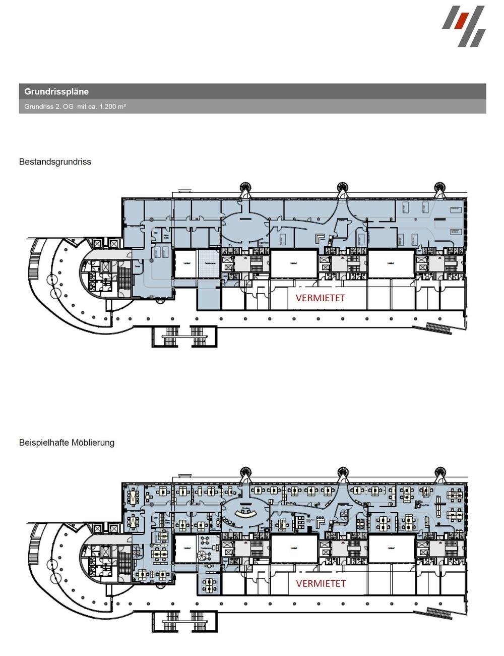 Grundriss Columbus Haus 2. OG (ca. 1200 m²)