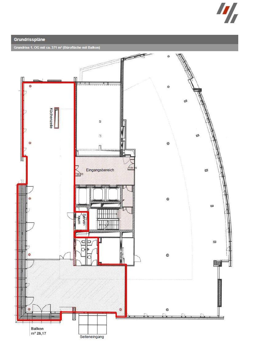 Grundriss 1. OG (ca. 371 m²)