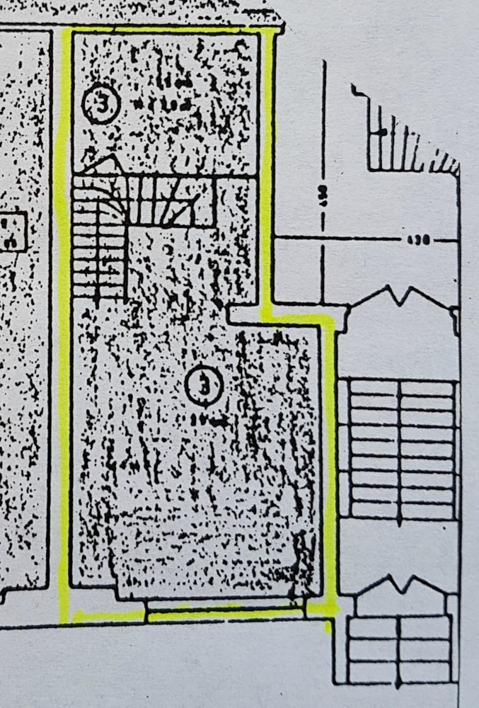 Grundriss Laden 3 Hochparterre- zugeschnitten