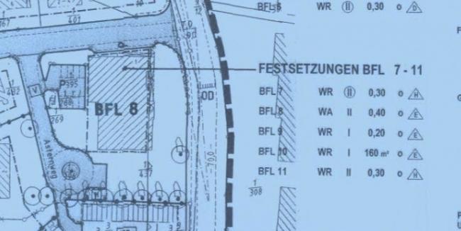 Auszug aus dem Bebauungsplan Westerrade