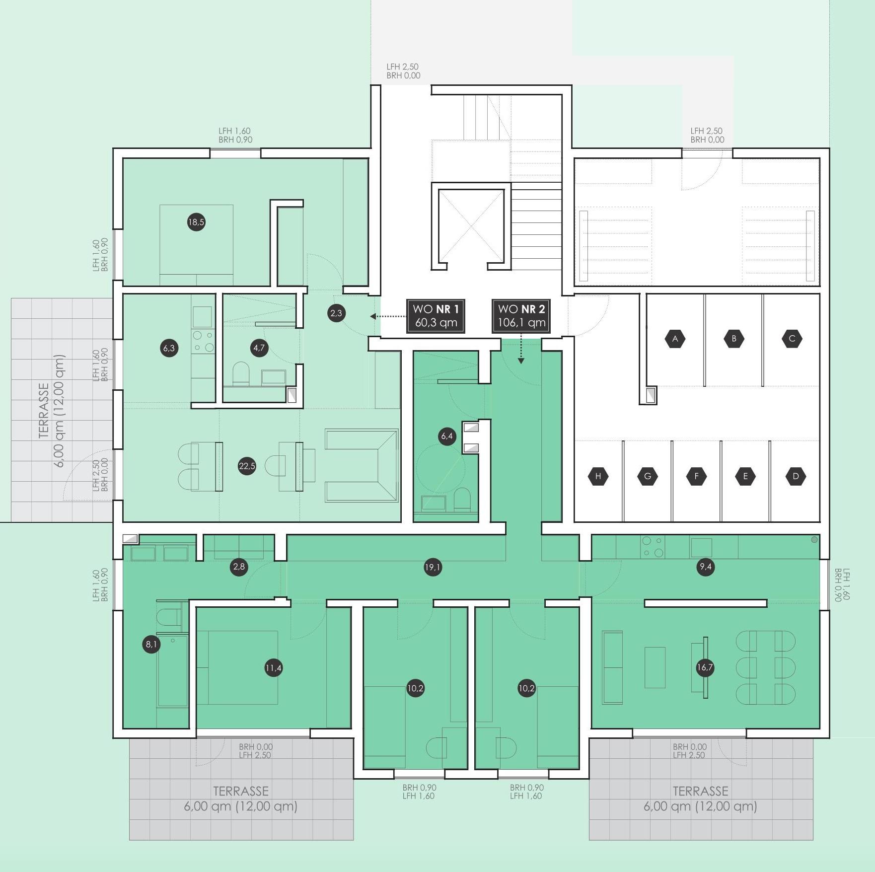 Erdgeschoss groß