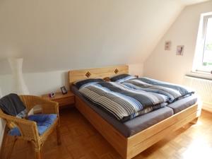 Schlafzimmer bewohnt