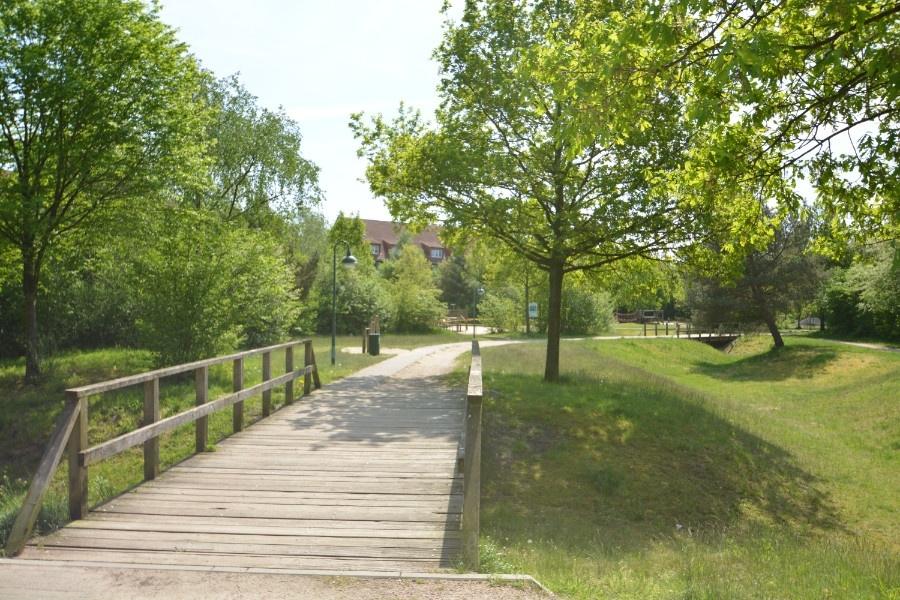 angrenzender Park