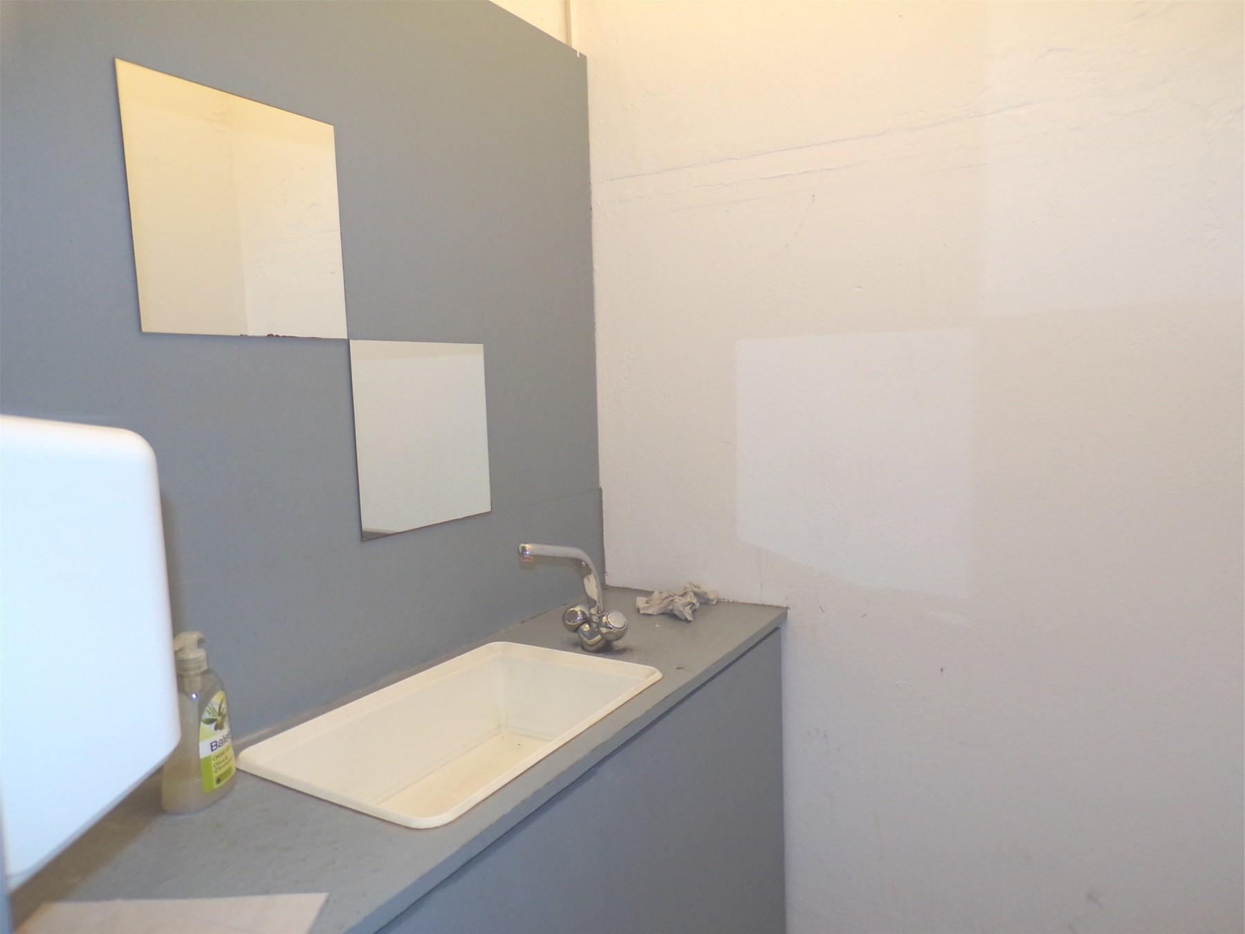 Haupteingang WC-Waschbecken