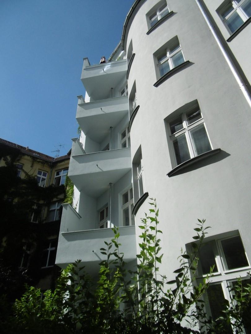 Innenhof mit Balkonen