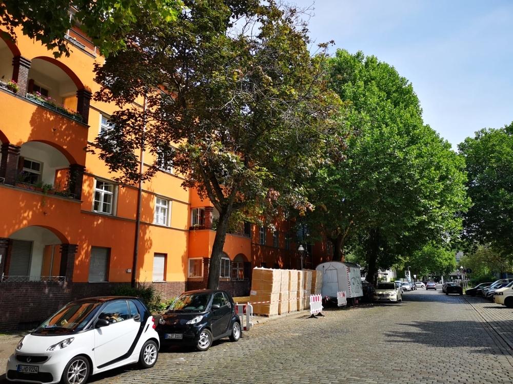 Fassade mit Loggien - von Seite
