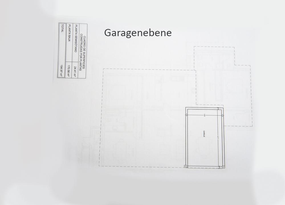 Grundriss Garagenebene