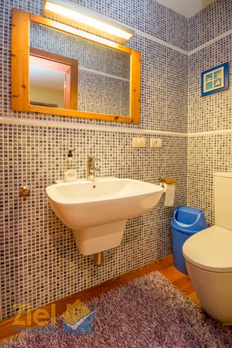 Gäste-WC im unteren Wohnbereich