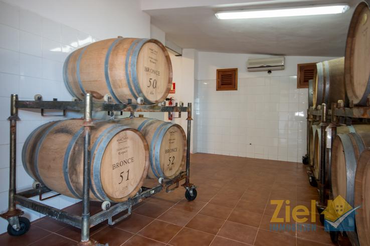 Lagerung des schmackhaften Weines