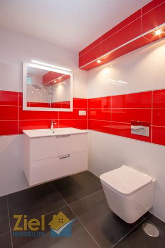 Progressiv gestaltetes Badezimmer