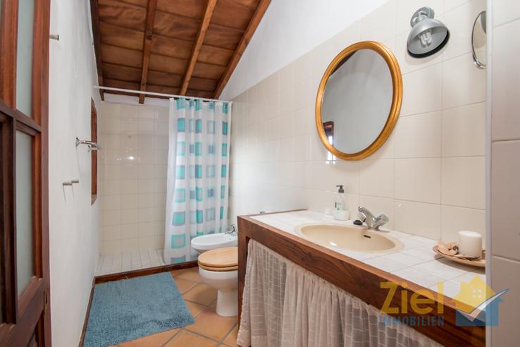 Helles Badezimmer mit grosser Dusche
